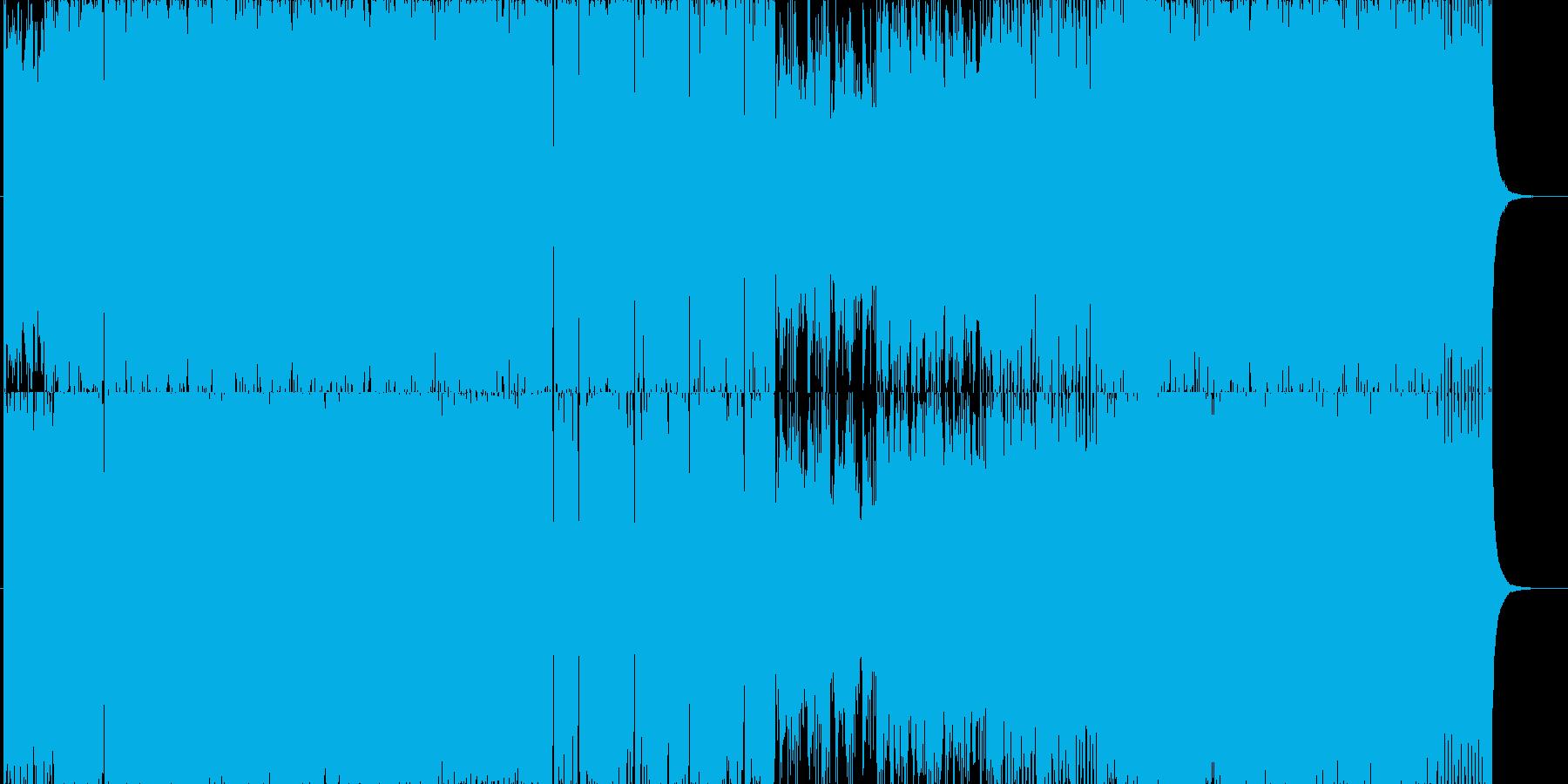 スラップベースをフューチャーしたEDMの再生済みの波形