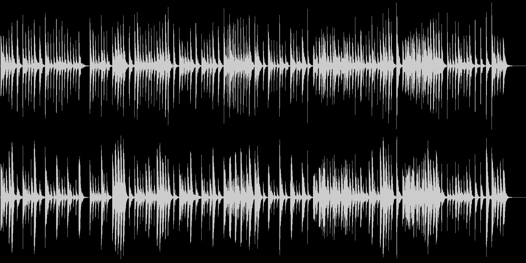 素朴な木琴の温かほのぼの映像系かわいいの未再生の波形