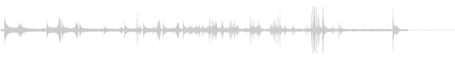 コポコポコポッキン(飲み物をつぐ音)の未再生の波形