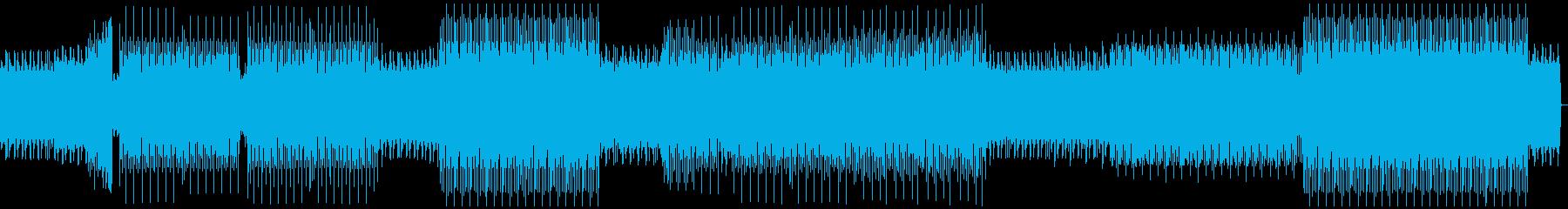 ループミュージック!リズミカルなハウスの再生済みの波形