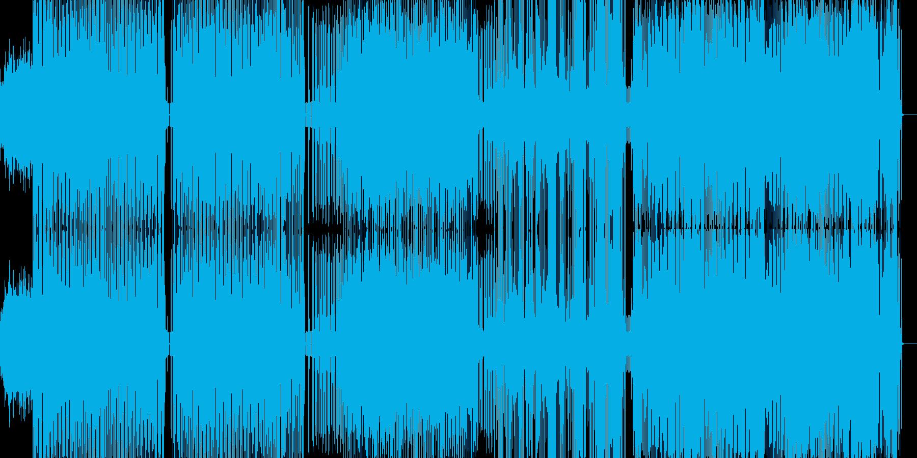 パーカッシブなディスコサウンドがあって…の再生済みの波形