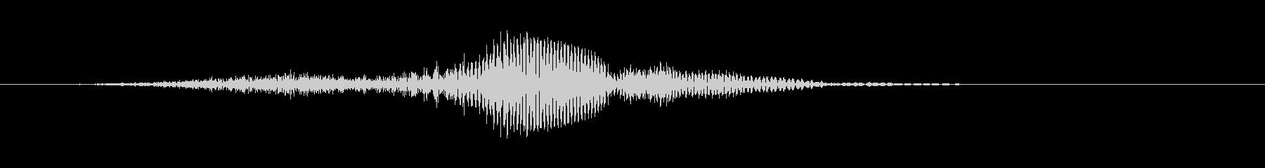 アクション 攻撃 「セイッ」の未再生の波形