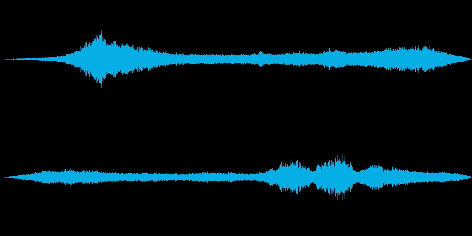 風の効果音(自然、そよ風、ビル風等)05の再生済みの波形