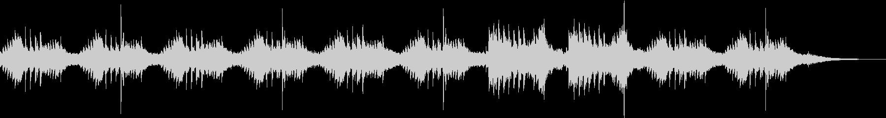 おだやかでゆったりとしたピアノバラードの未再生の波形