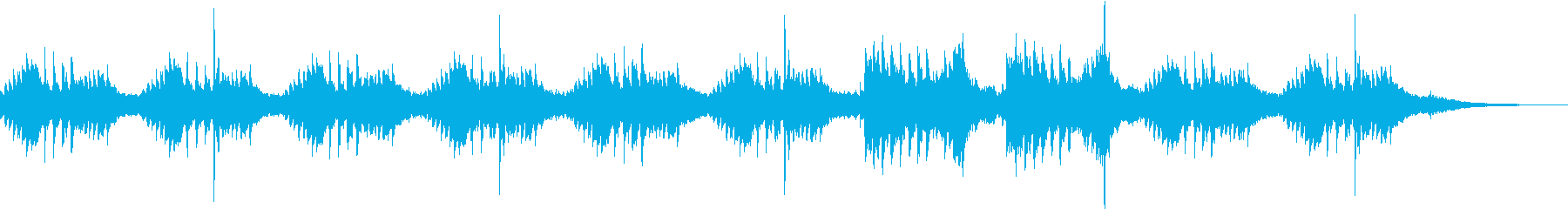 おだやかでゆったりとしたピアノバラードの再生済みの波形