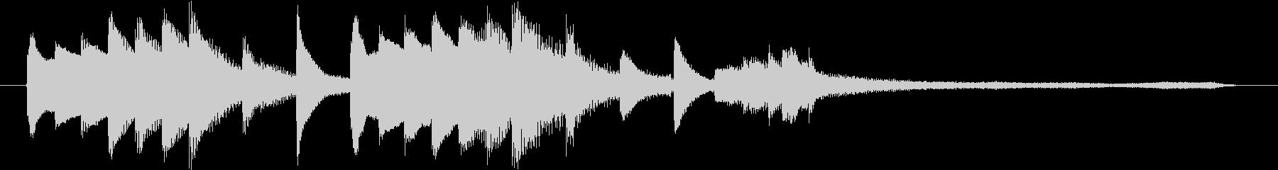 ジングル、ロゴに美しいピアノの音色で!の未再生の波形
