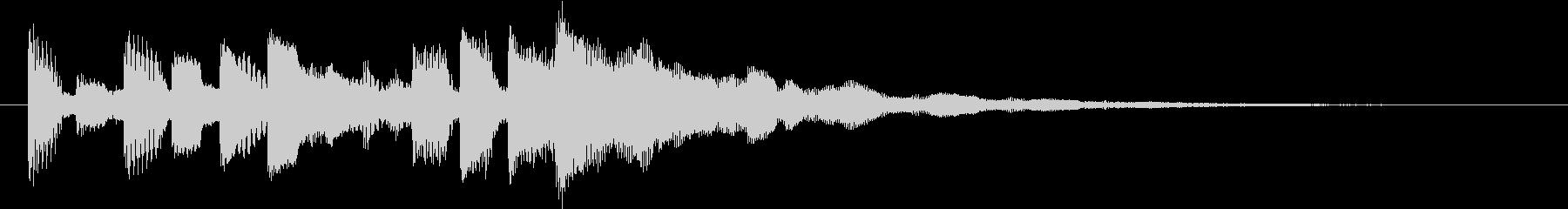 オープニングに最適なロゴ・ジングルの未再生の波形