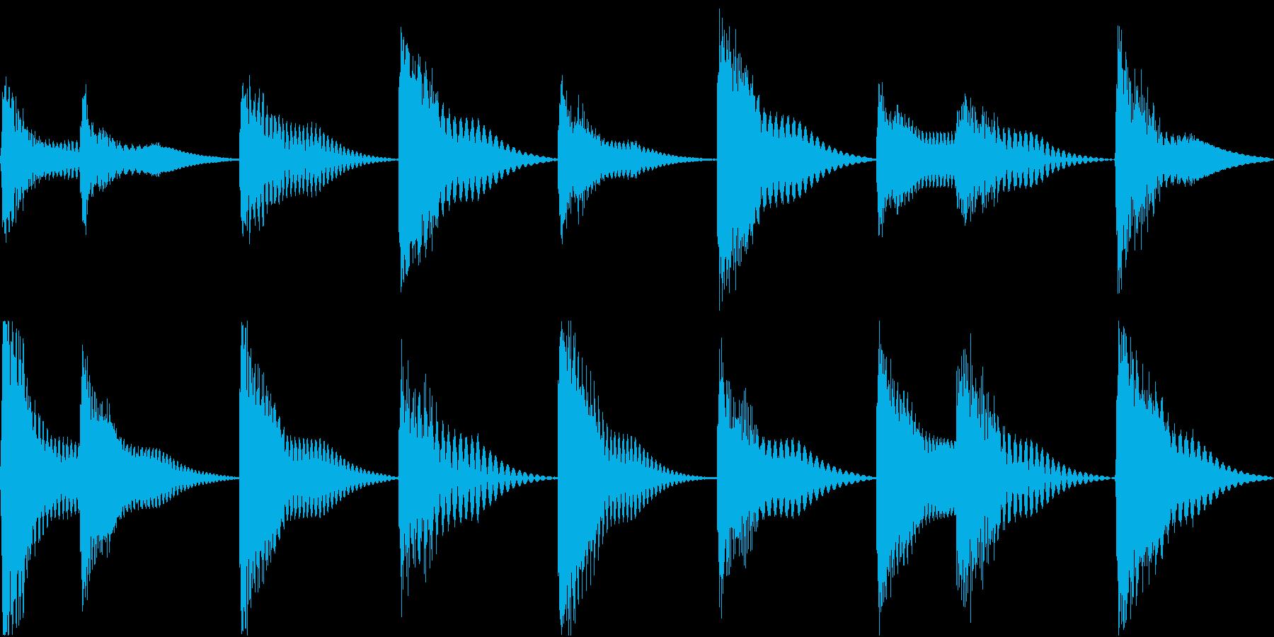 着信音 ループ お知らせ 通知 海 5の再生済みの波形