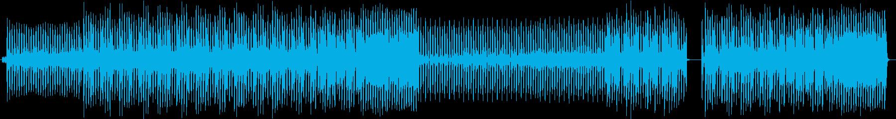 明るくて少しパーティー感のある曲の再生済みの波形