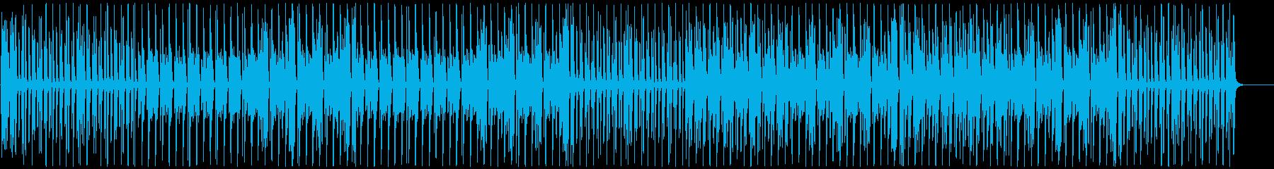 ポップで明るく楽し気なBGMの再生済みの波形