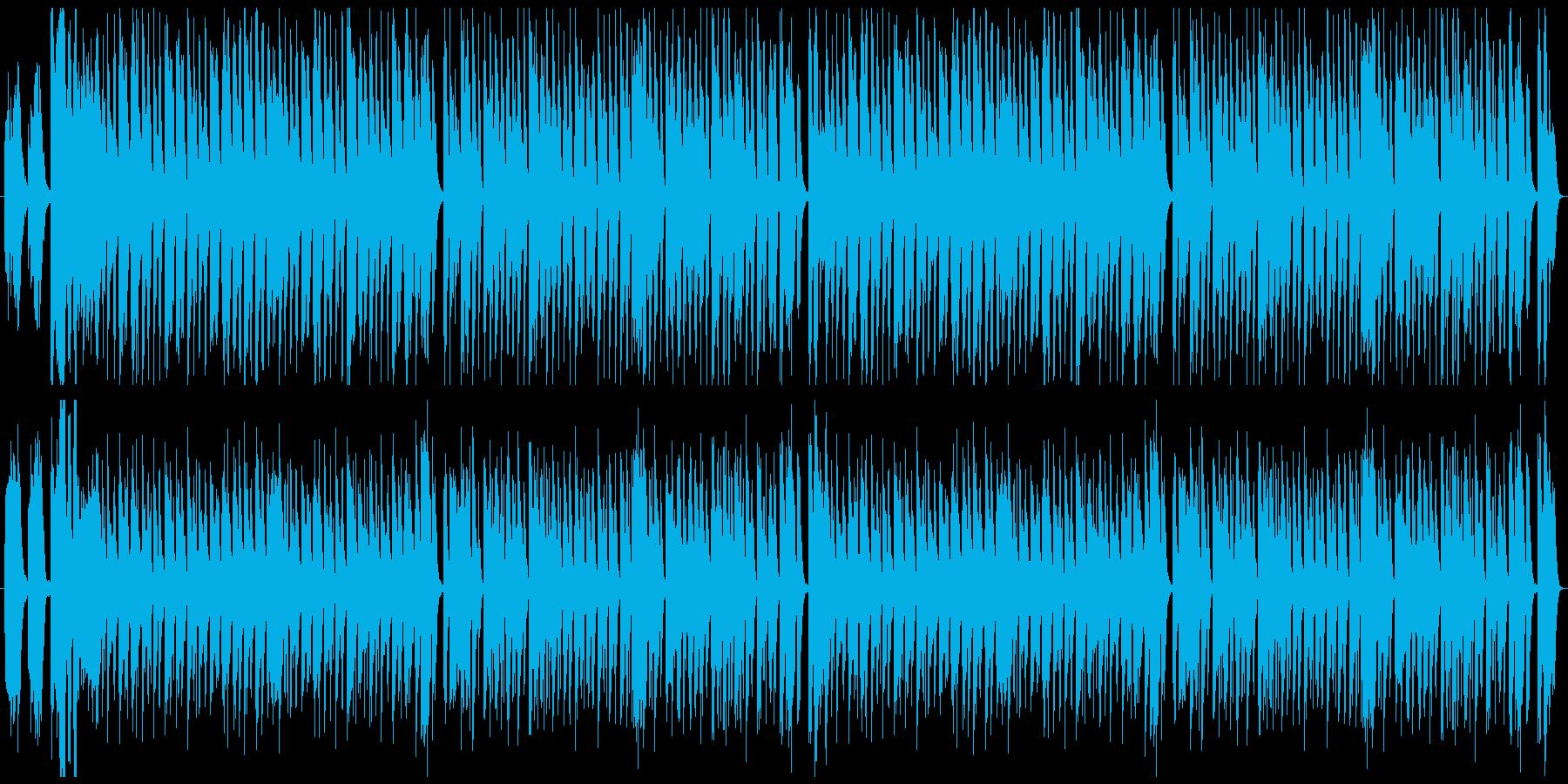 コミカルで可愛い曲の再生済みの波形