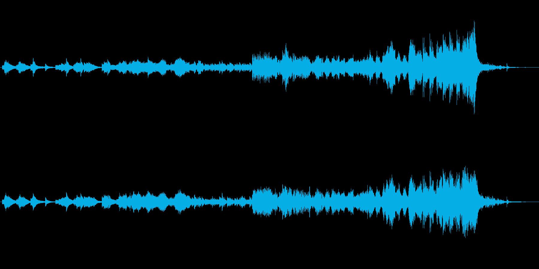 夜空が似合うピアノフルートストリングス曲の再生済みの波形