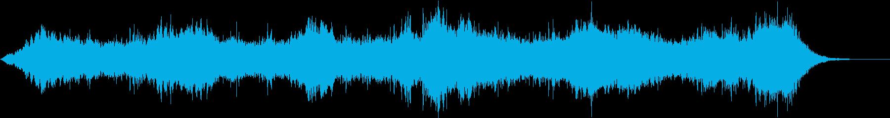 サスペンス映画のオープニング風の再生済みの波形