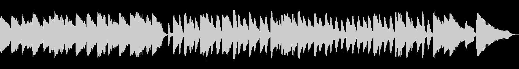 ちょっと和風のピアノ独奏曲「あやとり」の未再生の波形