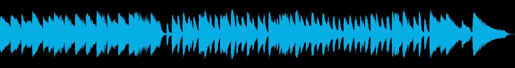ちょっと和風のピアノ独奏曲「あやとり」の再生済みの波形