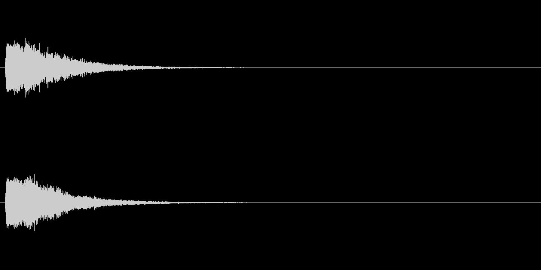 アニメ風効果音・キュピン!2の未再生の波形