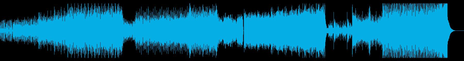 力強いハードオーケストラ(一部声入り)の再生済みの波形