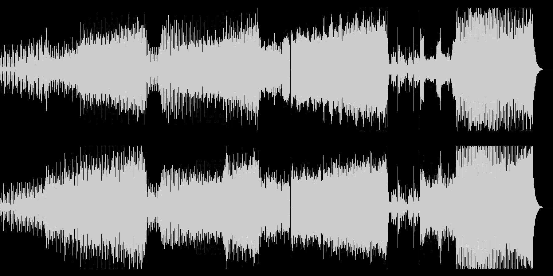 力強いハードオーケストラ(一部声入り)の未再生の波形