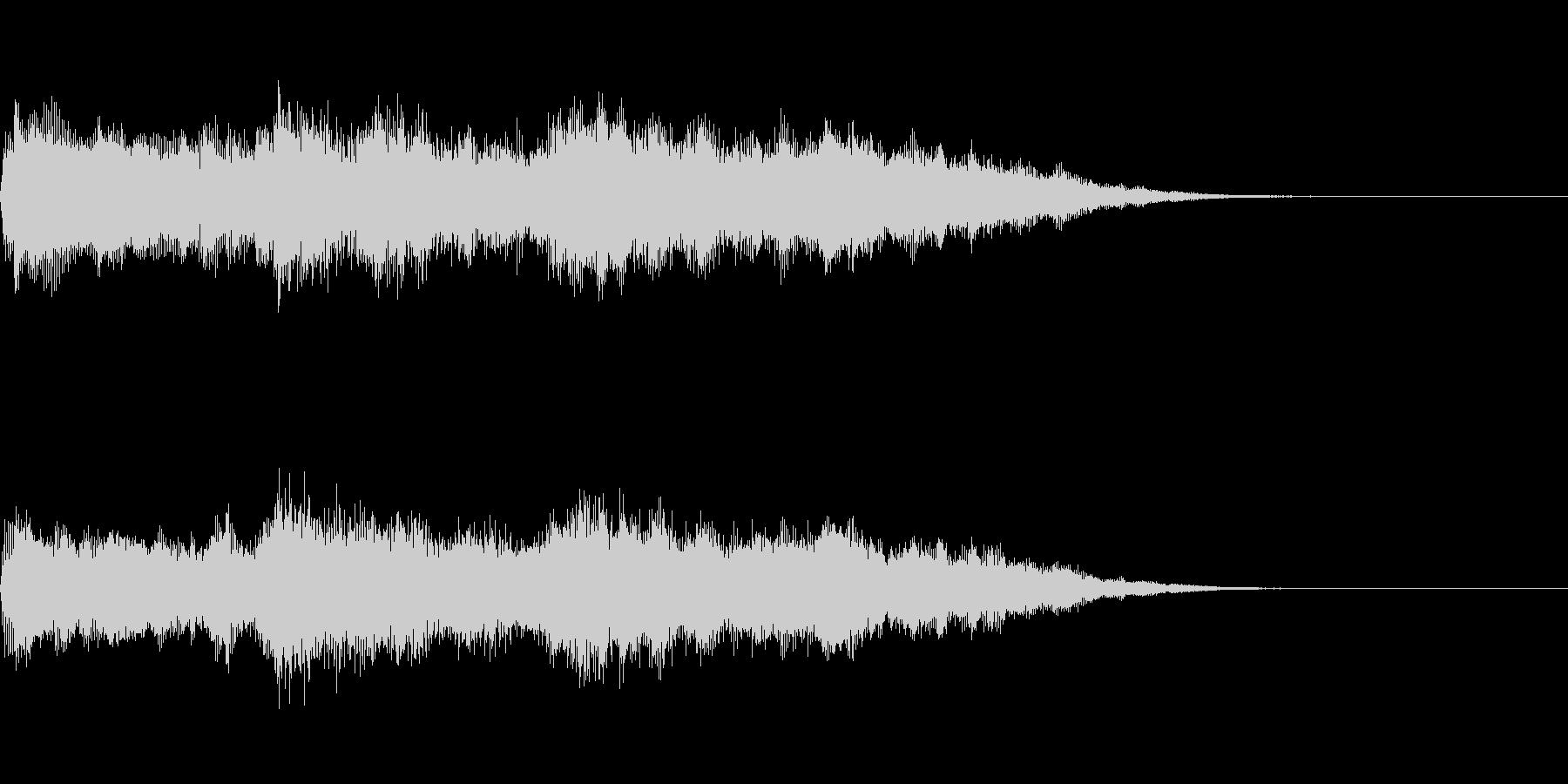 オーガニックなオープニング サウンドロゴの未再生の波形