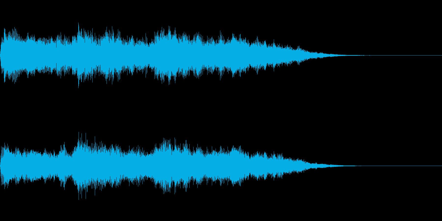 オーガニックなオープニング サウンドロゴの再生済みの波形