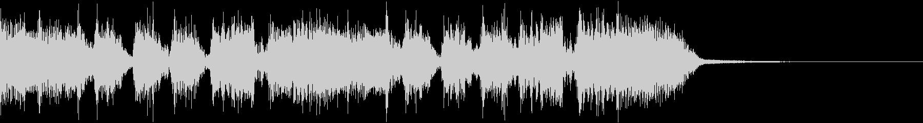 エネルギッシュ・ロックなサウンドロゴ12の未再生の波形
