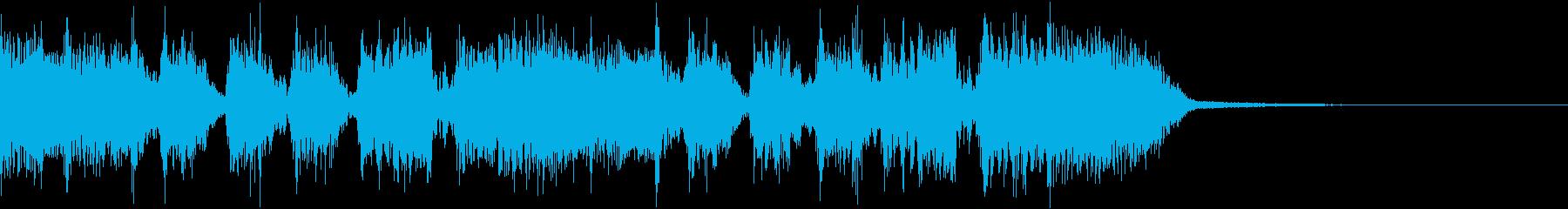 エネルギッシュ・ロックなサウンドロゴ12の再生済みの波形