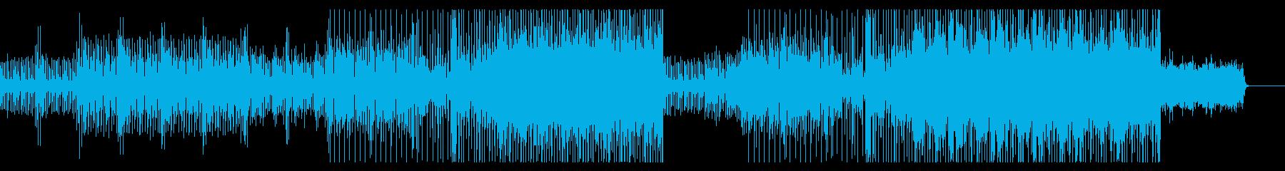80年代レトロなテクノBGMの再生済みの波形
