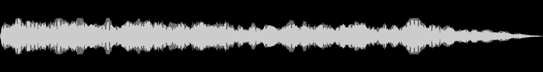 Cのキーの未再生の波形