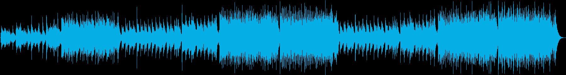 ティン・ホイッスルで幻想的なケルト音楽の再生済みの波形