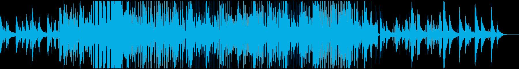 スクラッチが目立つヒップホップの再生済みの波形