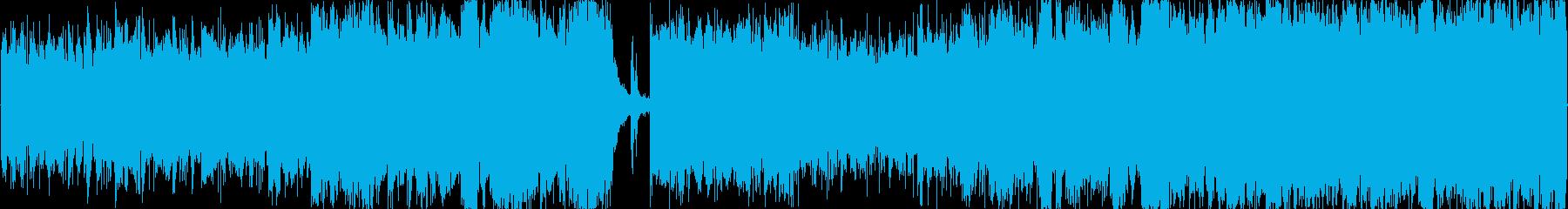 ヘビメタ系ループ音源の再生済みの波形