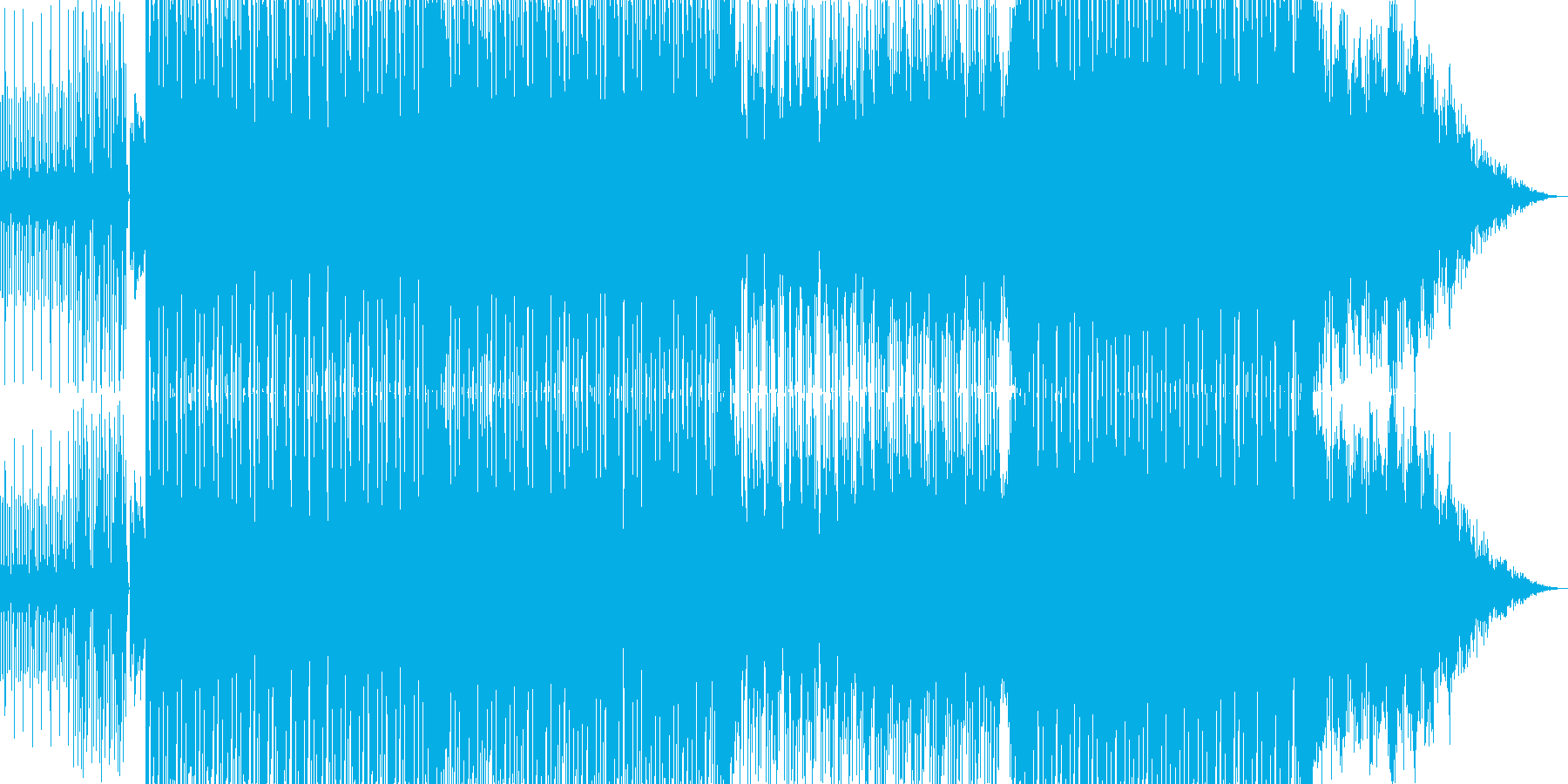 映画やアニメのオープニングにぴったりな曲の再生済みの波形