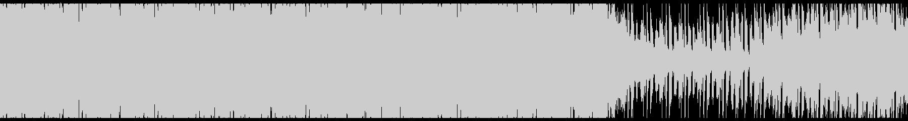 オシャレな4つ打ちピアノハウス-ループの未再生の波形
