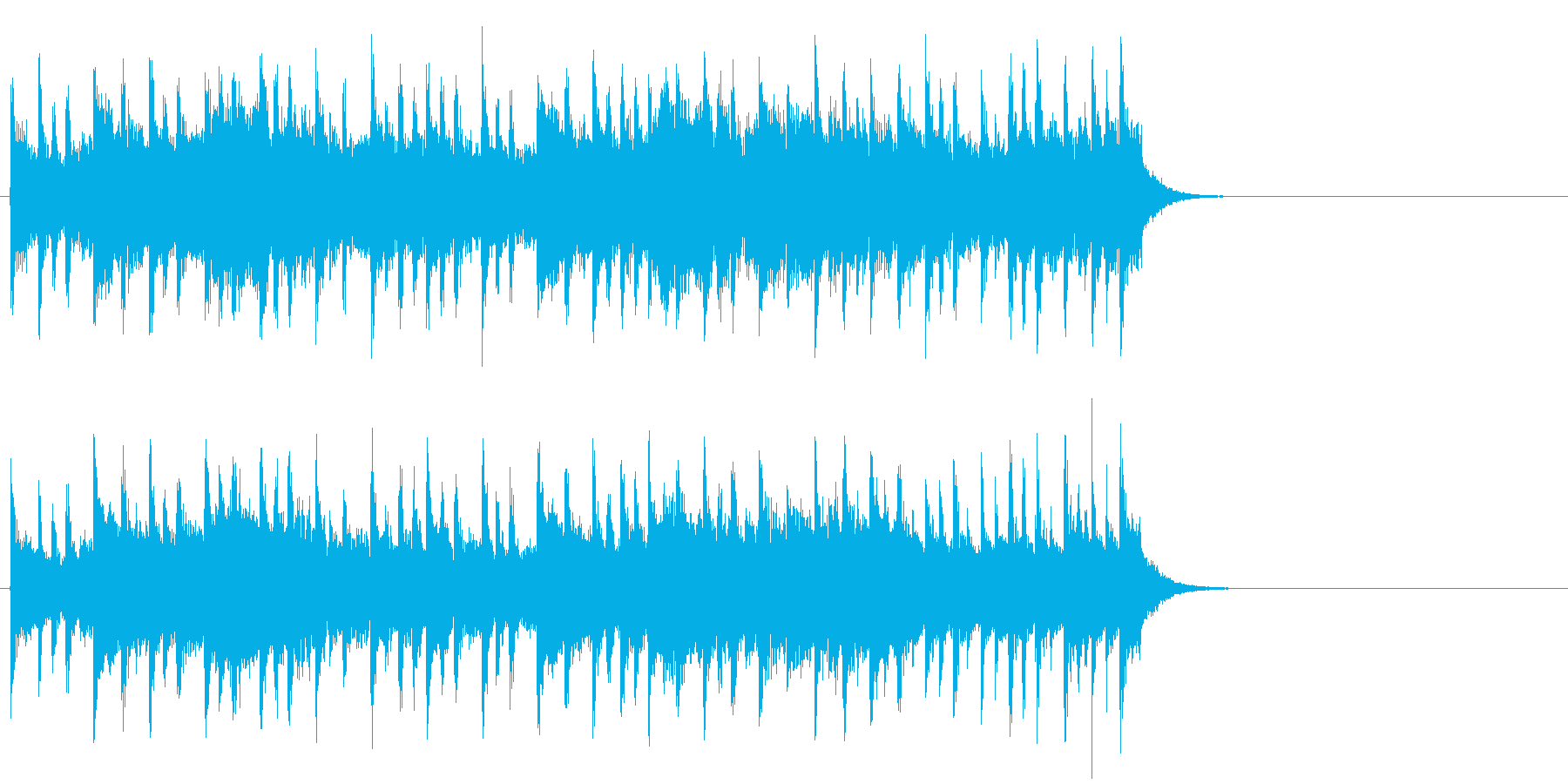 背中に哀愁漂うポップ(Aメロ)の再生済みの波形