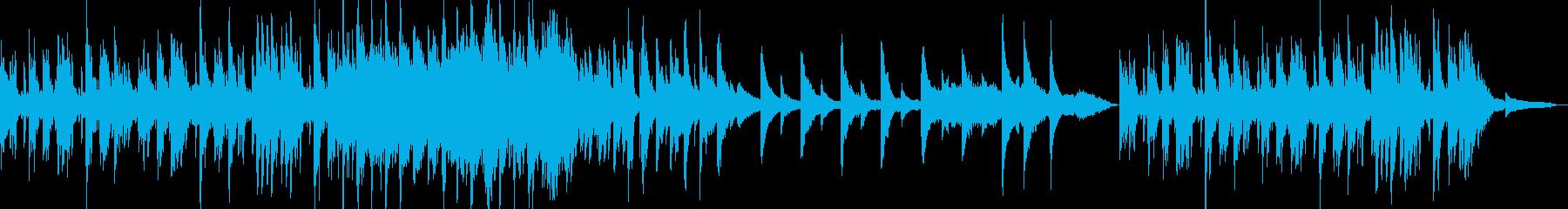 不思議で怪しい雰囲気のBGMの再生済みの波形