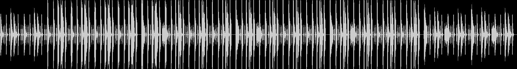 ベースが中心のファンキーなグルーヴの未再生の波形