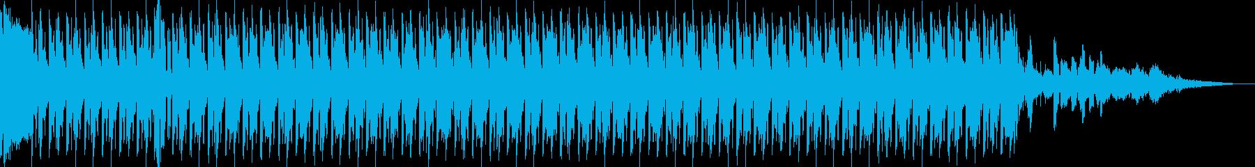 ミュージックベッドの再生済みの波形