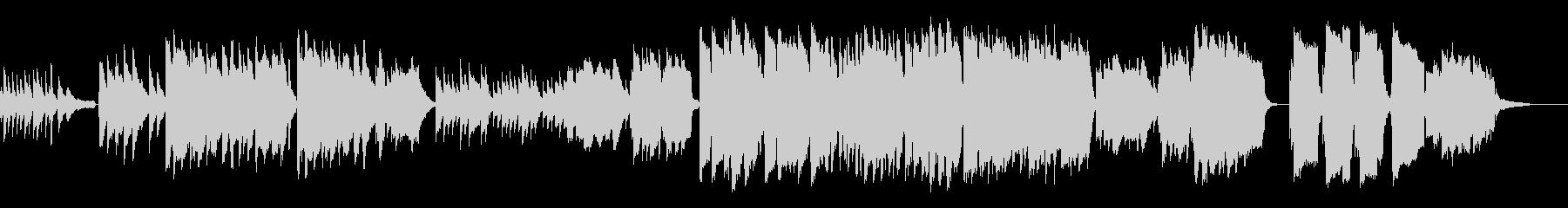 J-POP風のメロディ、インストバラードの未再生の波形