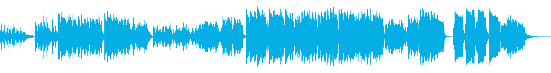J-POP風のメロディ、インストバラードの再生済みの波形