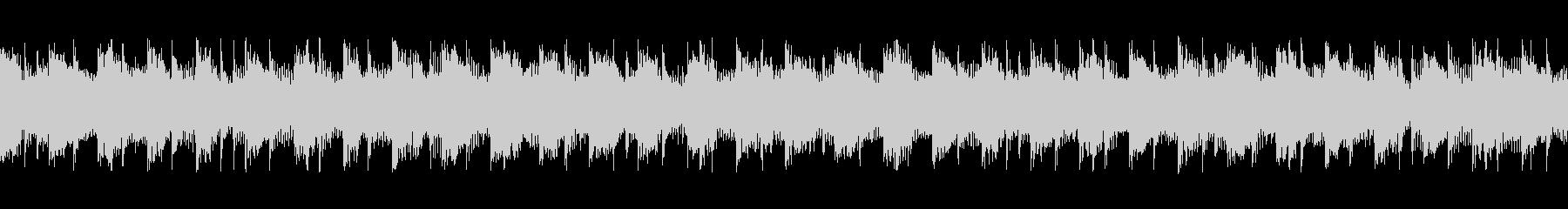 bpm121の地味で静かなループテクノの未再生の波形
