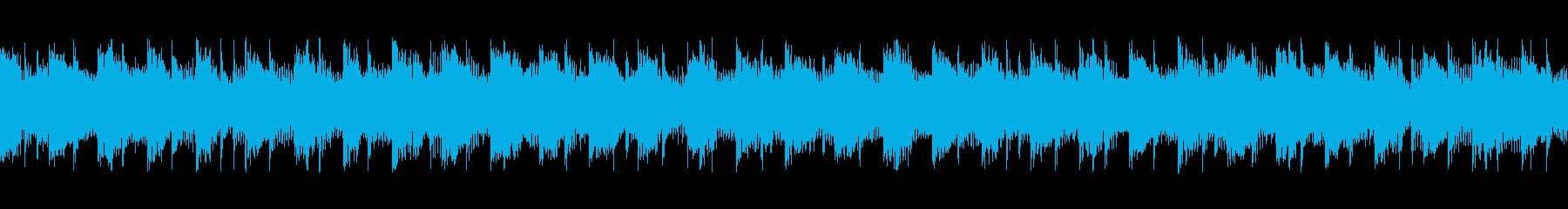 bpm121の地味で静かなループテクノの再生済みの波形