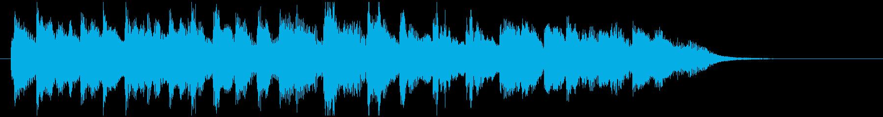ホンキートンクピアノのジングルの再生済みの波形