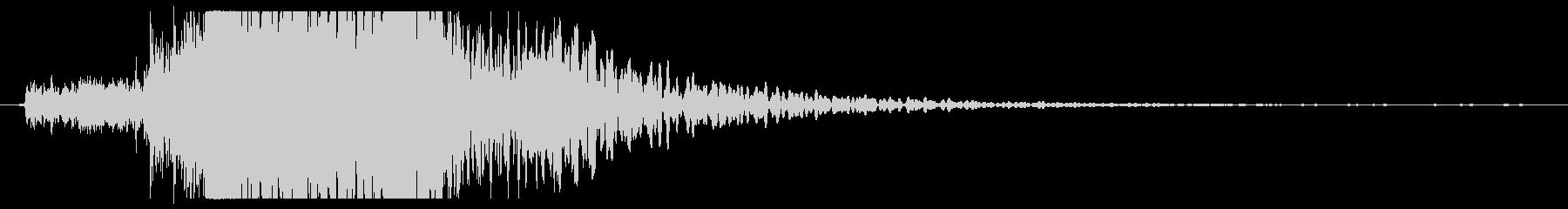 金属クランチ、電子音、デジタル電源の未再生の波形