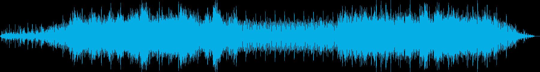 水辺や森をイメージした曲の再生済みの波形