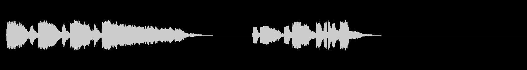 テーマ6:トランペット、音楽の未再生の波形