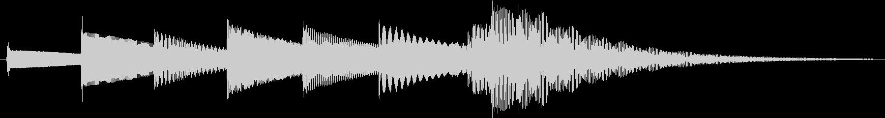 おやすみ【1フレーズの短いオルゴール曲】の未再生の波形