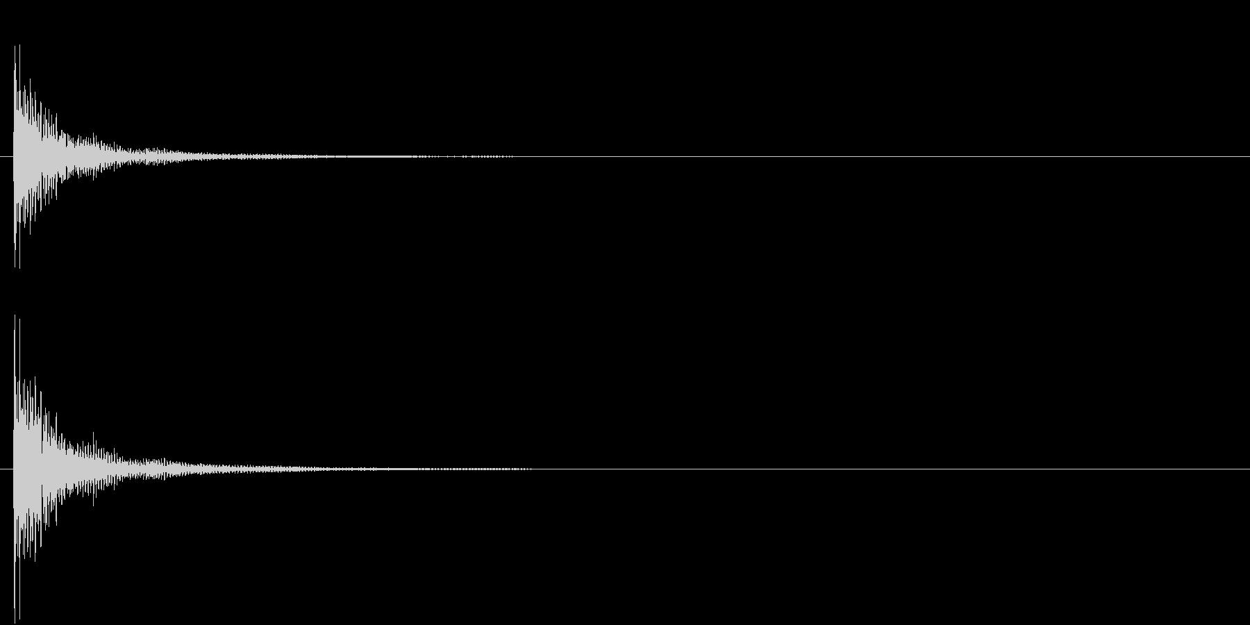 インドの桶太鼓Dhol(ドール)の単発音の未再生の波形