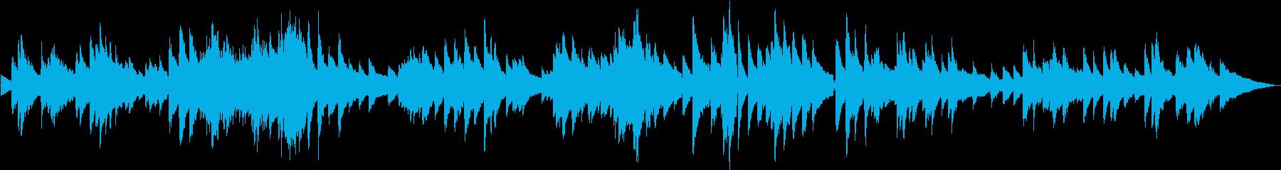 生演奏 ゆったりしたピアノBGMの再生済みの波形