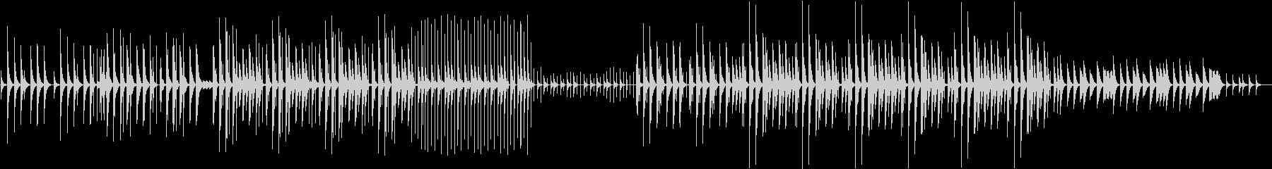 ステレオL Rで楽しめるリズムの未再生の波形