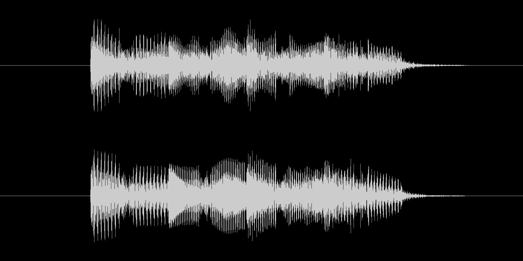 ゲームオーバー効果音 不正解 コミカルの未再生の波形